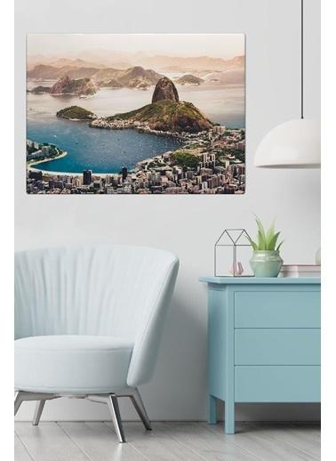 MarkaEv Canvas Şehir Manzara Tablo 0172 Renkli